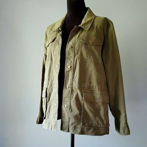 EILEEN FISHER olive cargo jacket